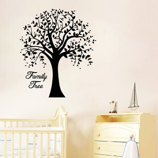 Family Tree Wall Art Decal Sticker