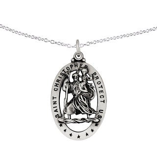 Versil Sterling Silver St.Christopher Medal