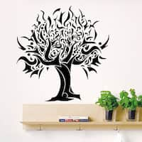 Wall Decal Tree Silhouette Decals for Country House Living Vinyl Stickers Nature Home Decor