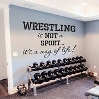 Quote Sports Wrestling Wall Art Decal Sticker