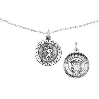 Versil Sterling Silver St. Christopher US Navy Medal