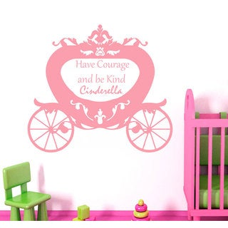 Quotes Have Courage And Be Kind Cinderella Wall Art Sticker Decal Pink
