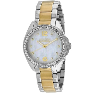 Coach Women's 14501659 Tristen Round Two-tone Stainless Steel Bracelet Watch