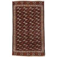 ecarpetgallery Shiravan Bokhara Brown Wool Rug - 6'5 x 10'8