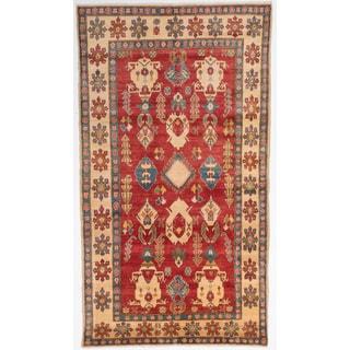 ecarpetgallery Finest Gazni Red Wool Rug (6'0 x 11'0)