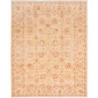 ecarpetgallery Chobi Finest Yellow Wool Rug (8'2 x 10'2)