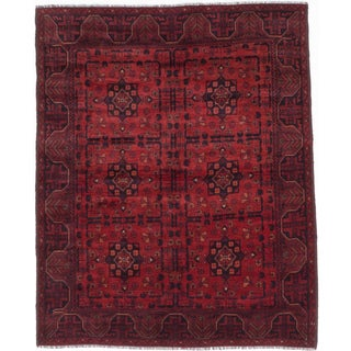 ecarpetgallery Finest Khal Mohammadi Red Wool Rug (5'3 x 6'3)