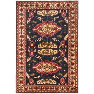 ecarpetgallery Finest Kargahi Blue Wool Rug (6'8 x 9'9)