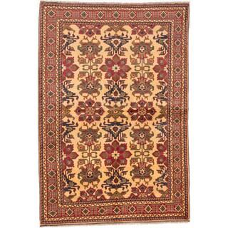 ecarpetgallery Finest Kargahi Yellow Wool Rug (6'9 x 10'0)
