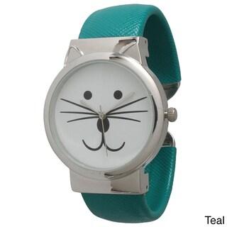 Olivia Pratt Tom Cat Cuff Watch (Option: Teal)