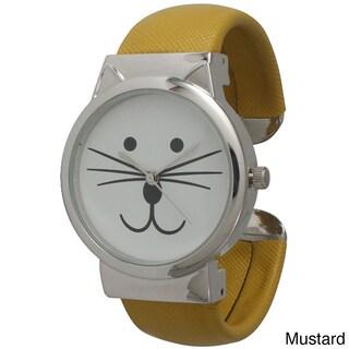 Olivia Pratt Tom Cat Cuff Watch (Option: Mustard)