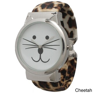Olivia Pratt Tom Cat Cuff Watch (Option: Cheetah)