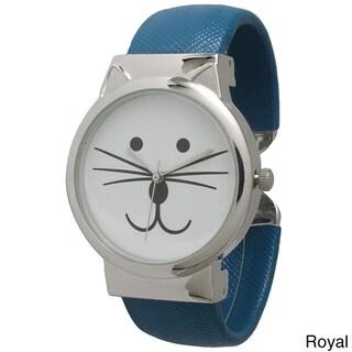 Olivia Pratt Tom Cat Cuff Watch (Option: Royal)
