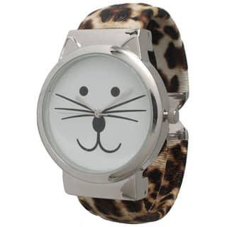 Olivia Pratt Tom Cat Cuff Watch|https://ak1.ostkcdn.com/images/products/11179631/P18172518.jpg?impolicy=medium