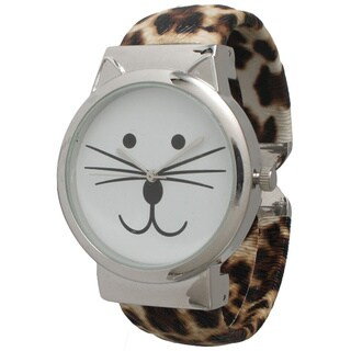 Olivia Pratt Tom Cat Cuff Watch