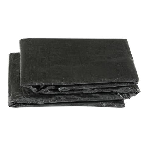 Economy Black Trampoline Weather Protection Cover for Square Frames (17 x 17)