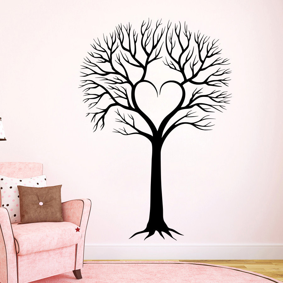 Wall Decal Tree Silhouette Decals Natural Forests For Nursery Room Living Home Decor Murals Overstock 11179673