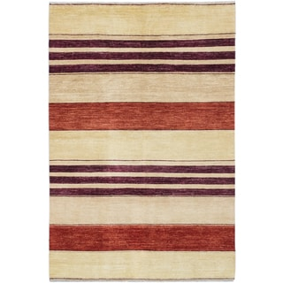ecarpetgallery Peshawar Ziegler Beige Wool Rug (6'1 x 9'0)