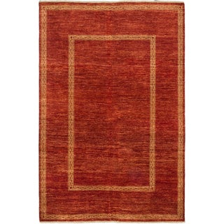 ecarpetgallery Peshawar Ziegler Orange Wool Rug (6'7 x 9'10)