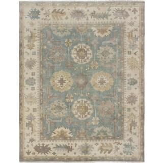 ecarpetgallery Royal Ushak Blue Wool Rug (7'8 x 9'8)