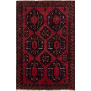 ecarpetgallery Finest Rizbaft Red Wool Rug (6'10 x 10'6)