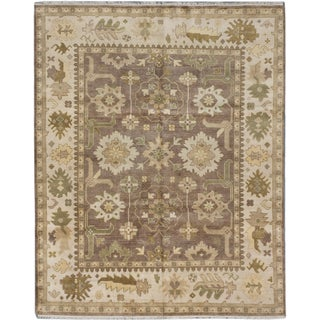 ecarpetgallery Royal Ushak Brown Wool Rug (8'0 x 10'0)