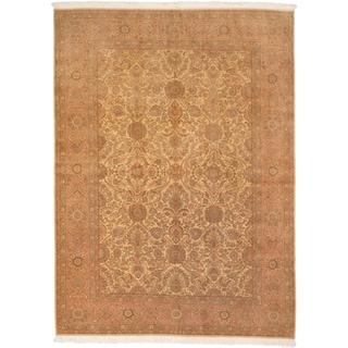 ecarpetgallery Keisari Vintage Brown/ Yellow Wool Rug (8'3 x 11'4)