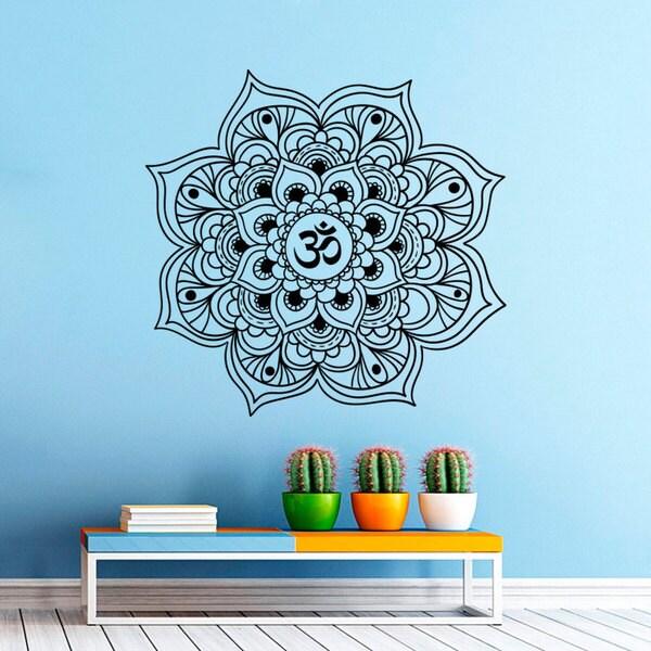 Mandala Yoga Flower Indian Pattern Wall Art Sticker Decal by Generic