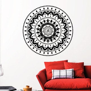 Mandala Yoga Namaste Wall Art Sticker Decal