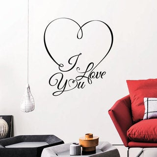 Quotes I Love You Heart Wall Art Sticker Decal