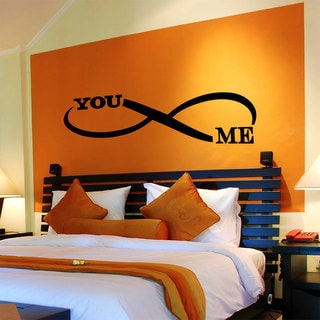 Quote Infinity Symbol You and Me Wall Art Sticker Decal