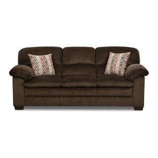Simmons Upholstery Plato Chocolate Sofa