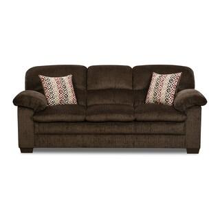 Simmons Upholstery Plato Chocolate Sofa