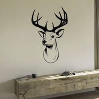 Deer Portrait Wall Art Sticker Decal