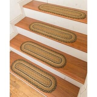 "Hand Braided Florida Jute Stair Treads 9"" x 29"" (Set of 13)"