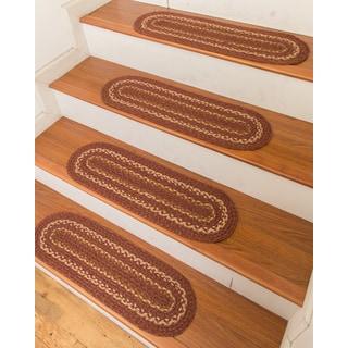 "Hand Braided Fulton Jute Stair Treads 9"" x 29"" (Set of 13)"