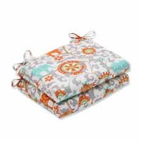 Pillow Perfect Outdoor/ Indoor Menagerie Squared Corners Seat Cushion (Set of 2)