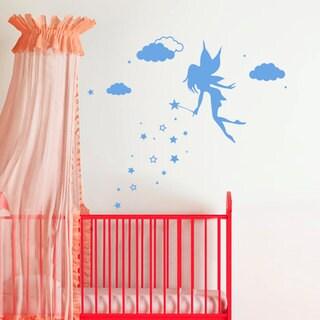 Fairy Magic Wand Wall Art Sticker Decal Blue