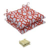 Pillow Perfect Outdoor/ Indoor Nunu Geo Wrought Iron Seat Cushion (Set of 2)