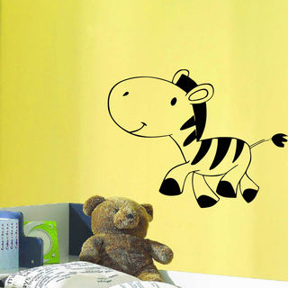 Animal STEPS Zebra Wall Art Sticker Decal