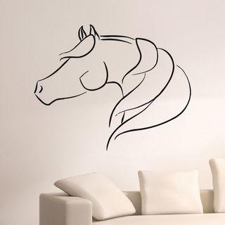 Animal Horse Profile Wall Art Sticker Decal