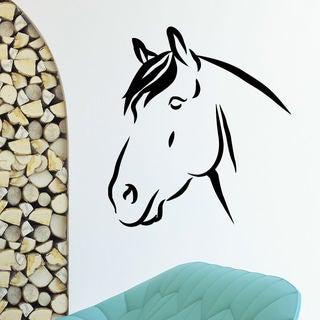 Animal Horse Profile Muzzle Wall Art Sticker Decal
