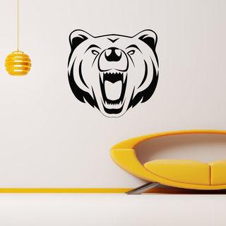 Animal Angry Bear Wall Art Sticker Decal