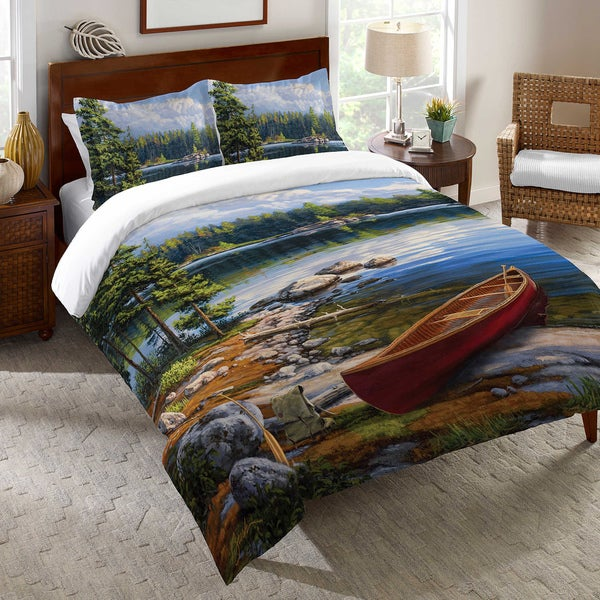 Shop Blue Lake Duvet Cover Free Shipping Today