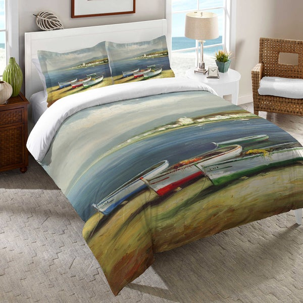 Three Boats Printed Duvet Cover Free Shipping Today