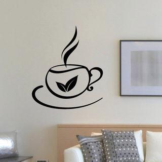Cafe Bar Restaurant Tea Wall Art Sticker Decal