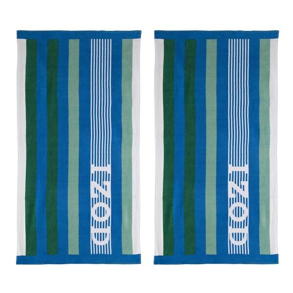 IZOD Racing Stripe Beach Towel (set of 2)