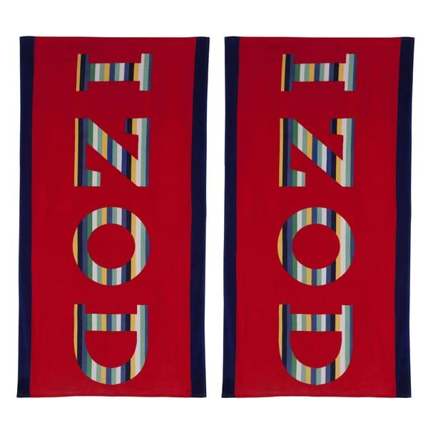 IZOD Rainbow Beach Towel (set of 2)