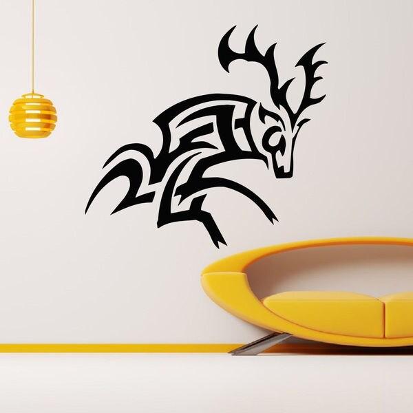 Template Deer Wall Art Sticker Decal