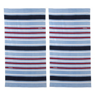 IZOD Deconstructed Stripe Beach Towel (set of 2)